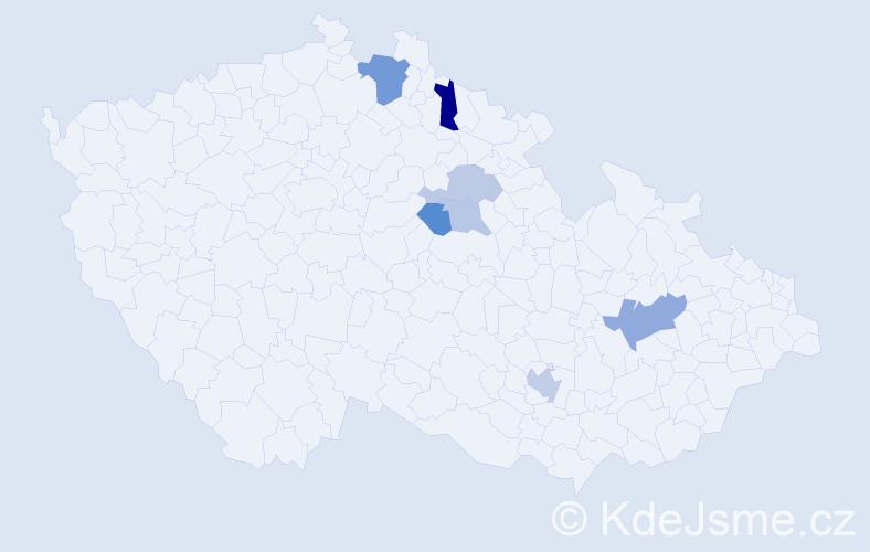 Příjmení: 'Brtko', počet výskytů 12 v celé ČR