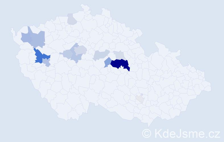 Příjmení: 'Kumpera', počet výskytů 41 v celé ČR
