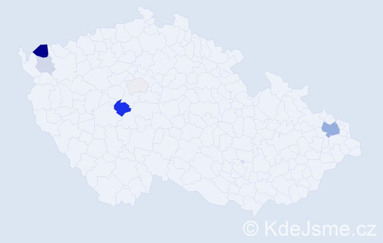 Příjmení: 'Grapová', počet výskytů 17 v celé ČR