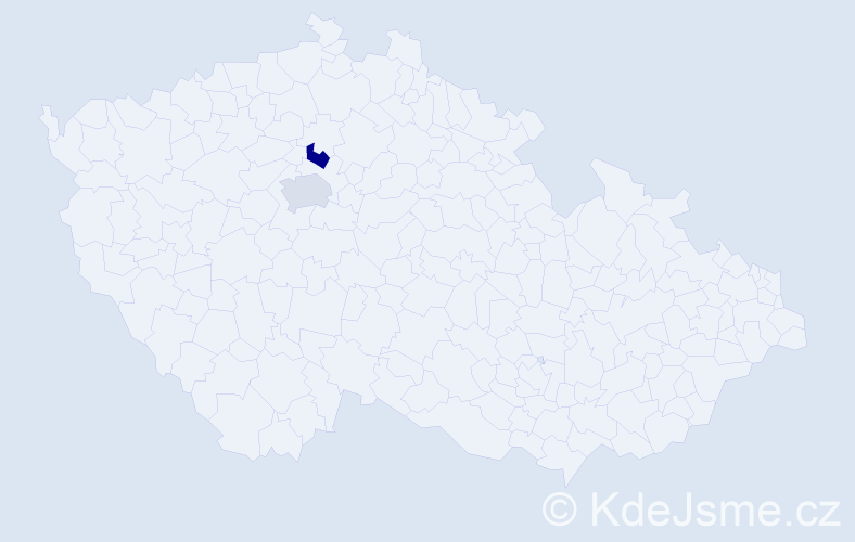 Příjmení: 'Gospodinovová', počet výskytů 2 v celé ČR