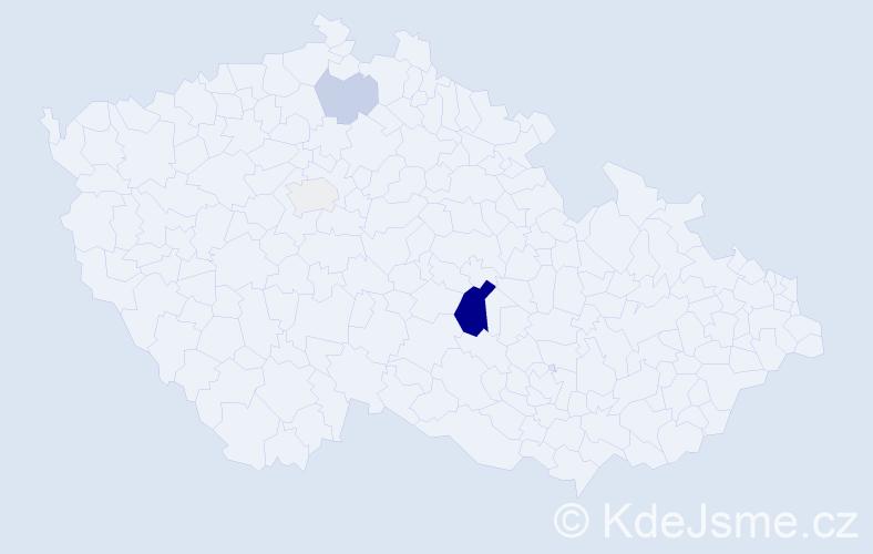 Příjmení: 'Čirka', počet výskytů 9 v celé ČR