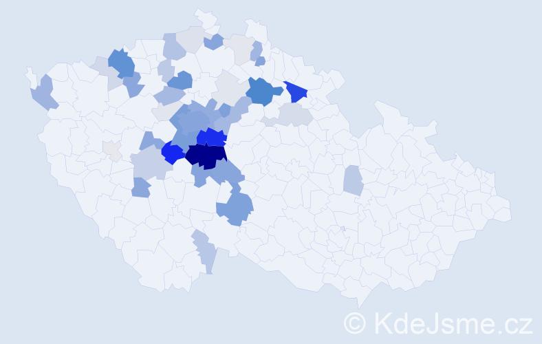 Příjmení: 'Chrpová', počet výskytů 177 v celé ČR