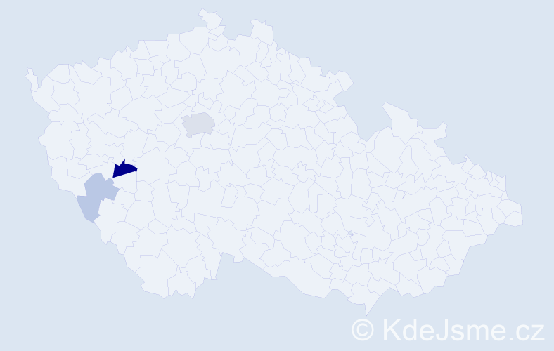 Příjmení: 'Biniová', počet výskytů 8 v celé ČR