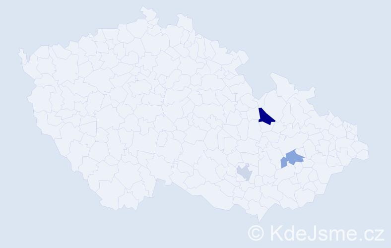 Příjmení: 'Gheorghiuová', počet výskytů 4 v celé ČR