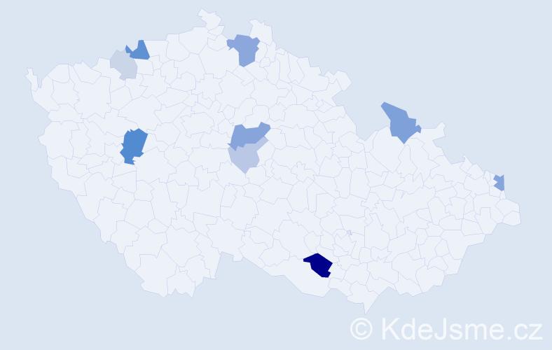 Příjmení: 'Čarnogurský', počet výskytů 25 v celé ČR