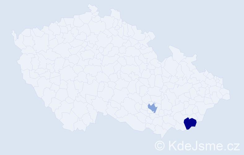 Příjmení: 'Alektoridis', počet výskytů 2 v celé ČR