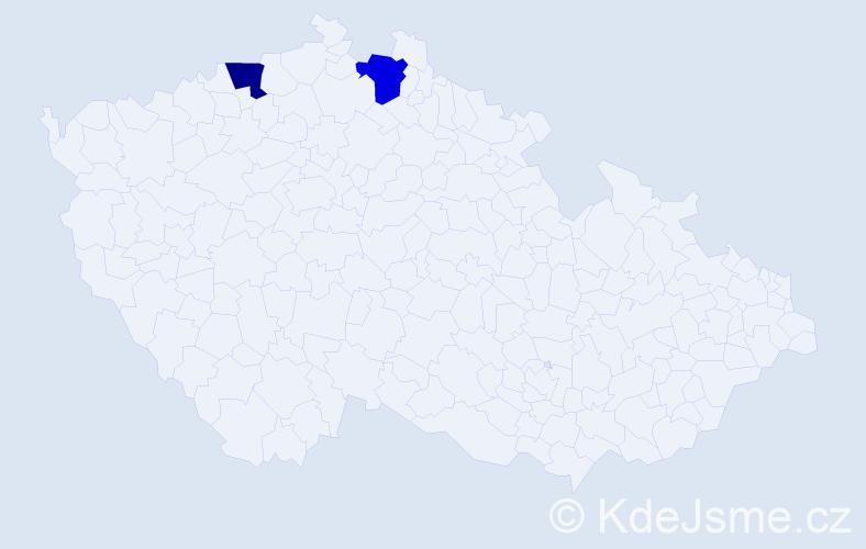 Příjmení: 'Grünzová', počet výskytů 4 v celé ČR