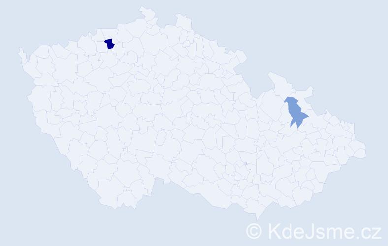 Příjmení: 'Izquierdo', počet výskytů 3 v celé ČR