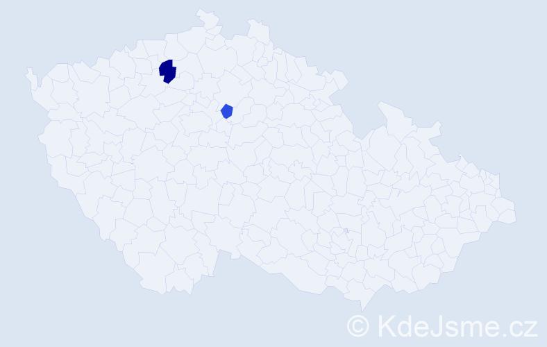 Příjmení: 'Latyšová', počet výskytů 3 v celé ČR