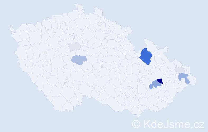 Příjmení: 'Ďuriček', počet výskytů 16 v celé ČR