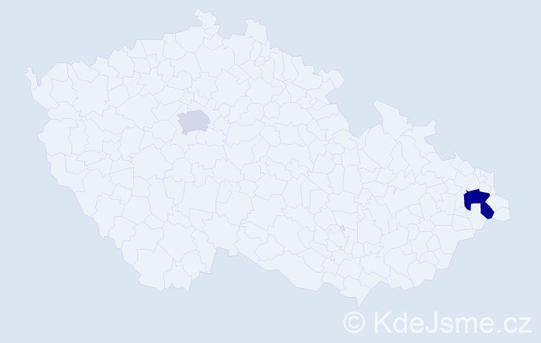 Příjmení: 'Krompachová', počet výskytů 3 v celé ČR