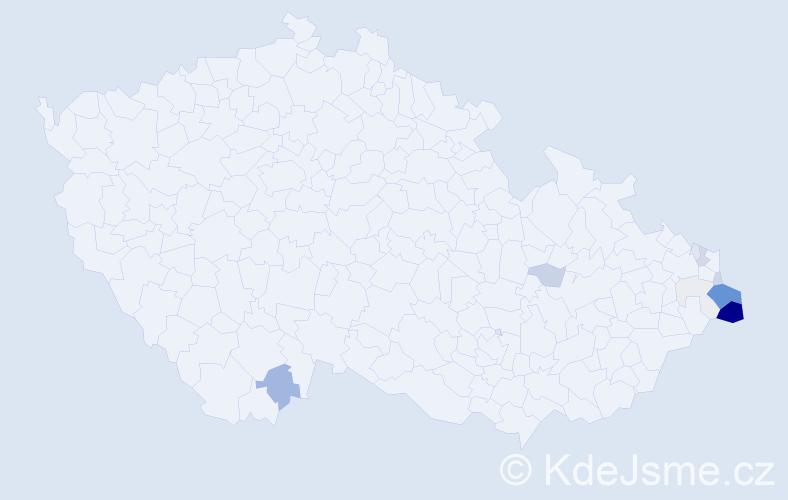 Příjmení: 'Czepiec', počet výskytů 57 v celé ČR