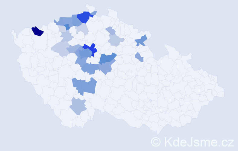 Příjmení: 'Češpivová', počet výskytů 118 v celé ČR