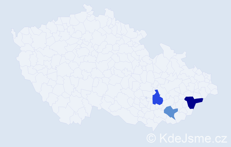 Příjmení: 'Kollandová', počet výskytů 4 v celé ČR