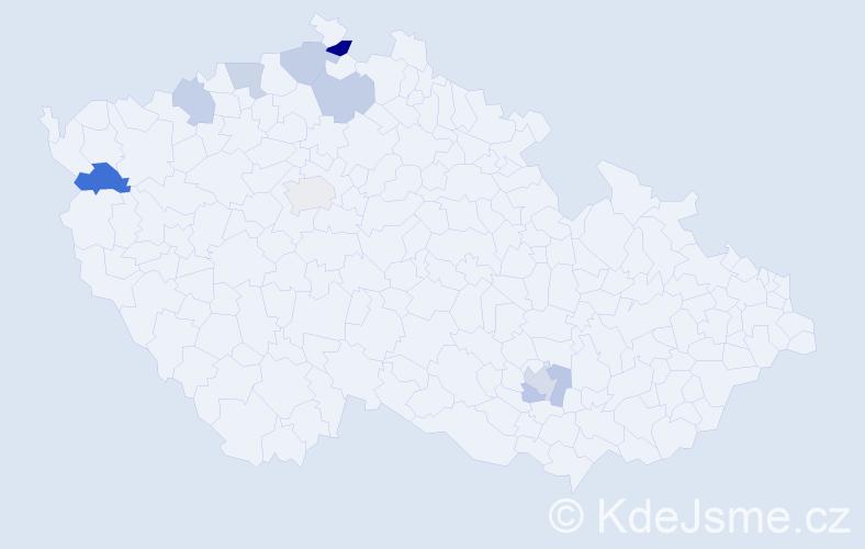 Příjmení: 'Fritzsche', počet výskytů 13 v celé ČR