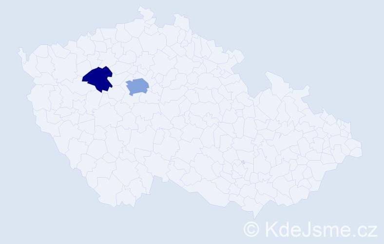 Příjmení: 'Epps', počet výskytů 4 v celé ČR