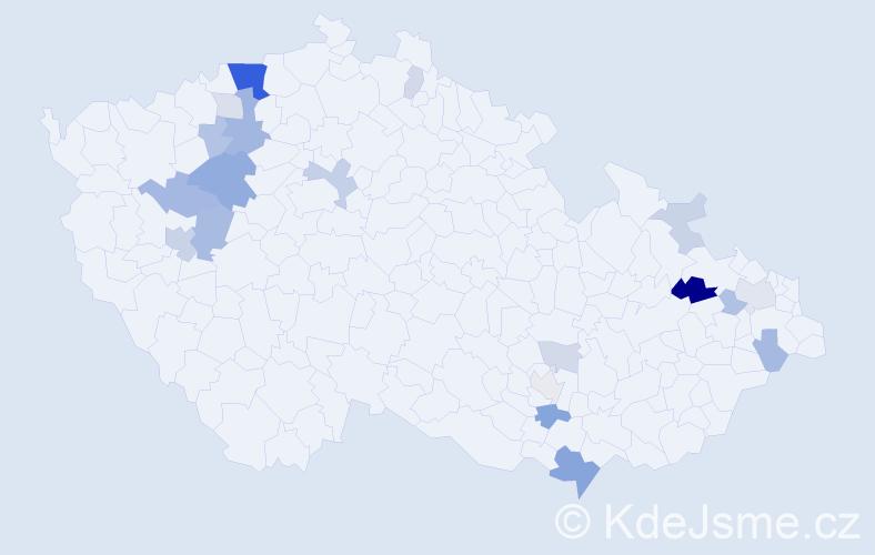 Příjmení: 'Jaššo', počet výskytů 49 v celé ČR