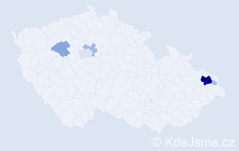Příjmení: 'Ivanská', počet výskytů 22 v celé ČR