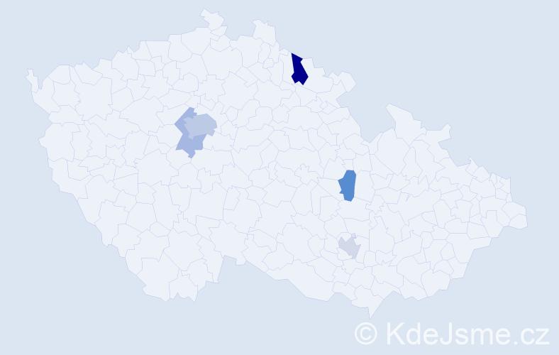 Příjmení: 'Ambrosi', počet výskytů 10 v celé ČR