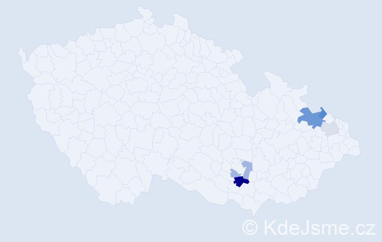 Příjmení: 'Landkašová', počet výskytů 9 v celé ČR