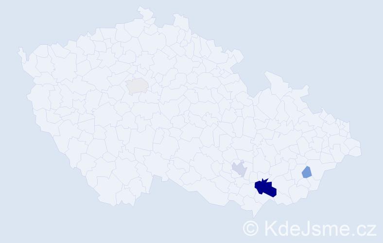 Příjmení: 'Fronek', počet výskytů 17 v celé ČR