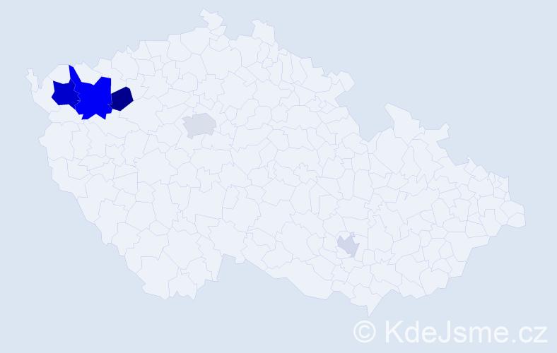 Příjmení: 'Čipka', počet výskytů 12 v celé ČR