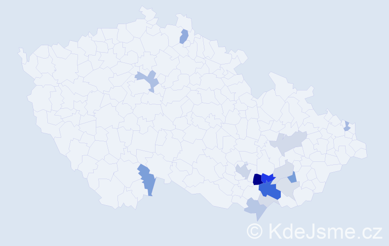 Příjmení: 'Elznerová', počet výskytů 43 v celé ČR