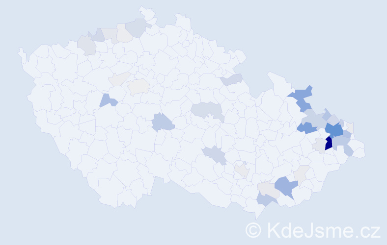 Příjmení: 'Hýl', počet výskytů 178 v celé ČR