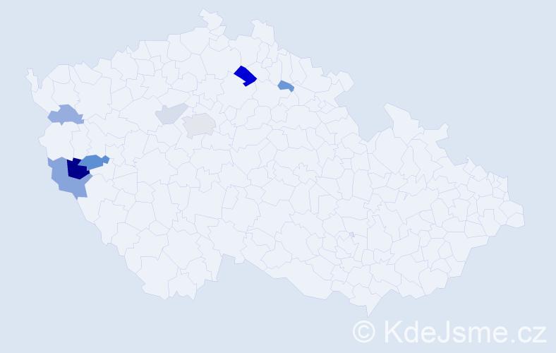 Příjmení: 'Cenefelsová', počet výskytů 17 v celé ČR