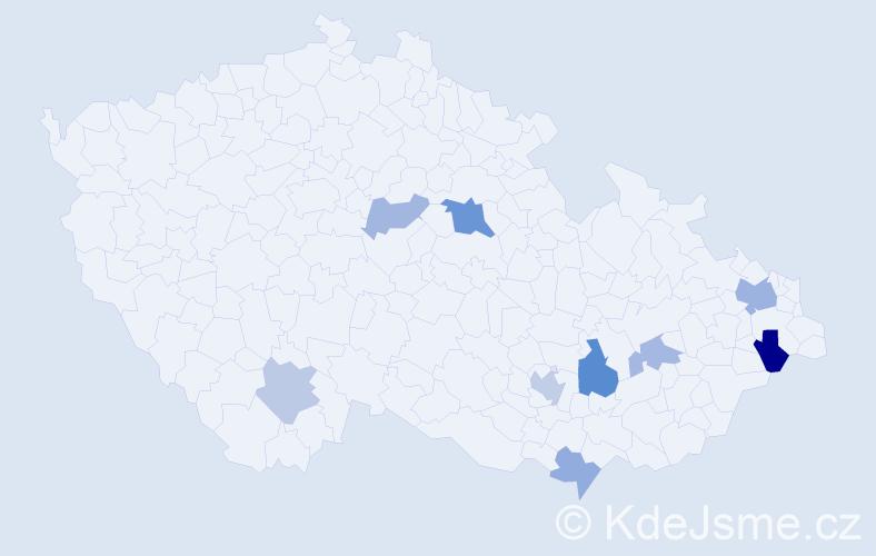 Příjmení: 'Führer', počet výskytů 16 v celé ČR