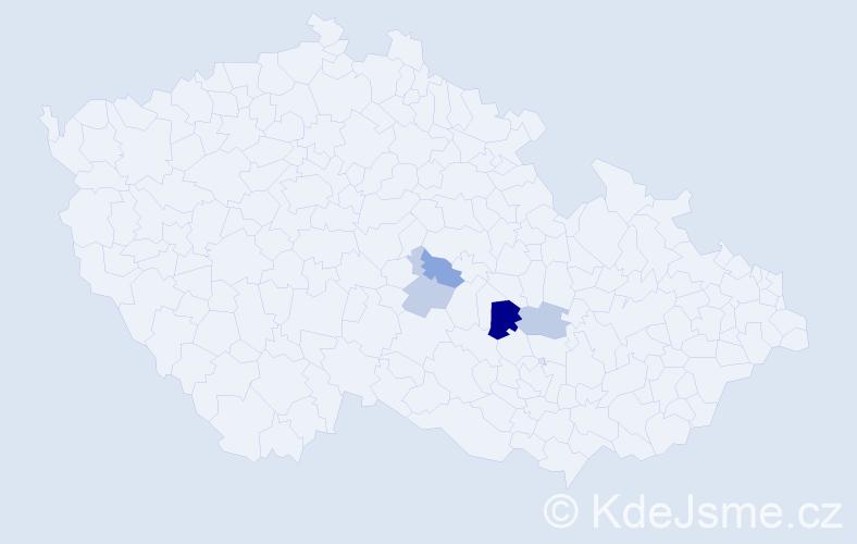 Příjmení: 'Hnědý', počet výskytů 7 v celé ČR