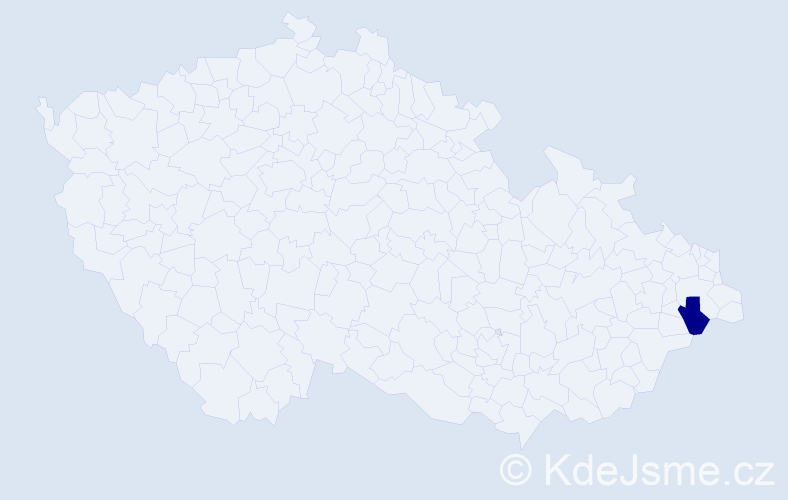 """Příjmení: '""""Gazurek Von Schallen""""', počet výskytů 1 v celé ČR"""