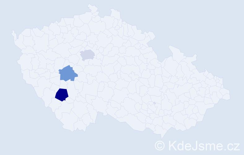 Příjmení: 'Hammami', počet výskytů 5 v celé ČR
