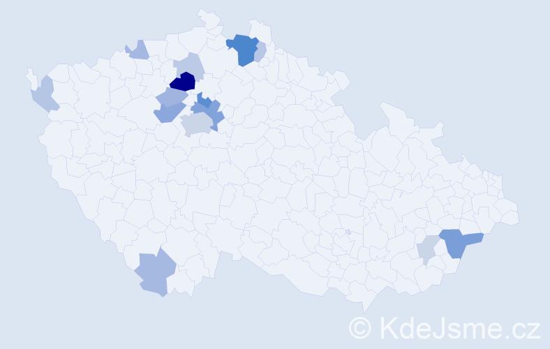Příjmení: 'Cinibulk', počet výskytů 39 v celé ČR