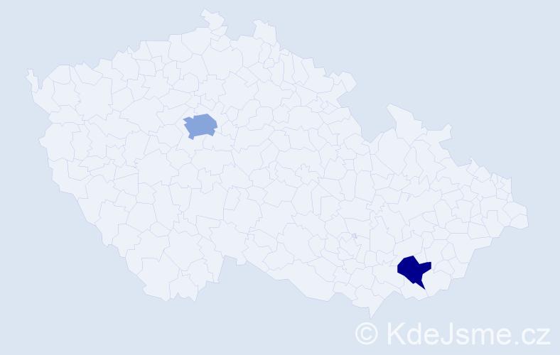 Příjmení: 'Chižňak', počet výskytů 6 v celé ČR