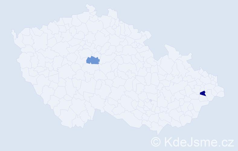 Příjmení: 'Gžebinskij', počet výskytů 2 v celé ČR