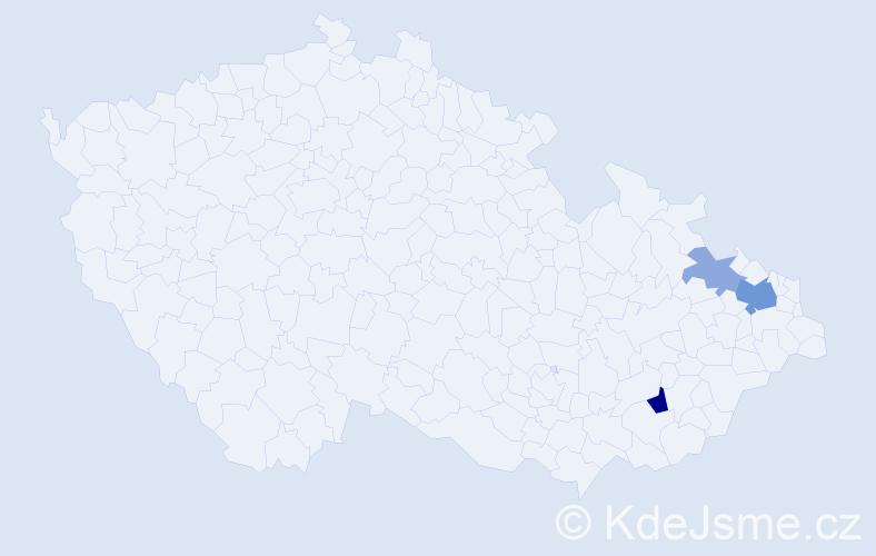 Příjmení: 'Karbowiaková', počet výskytů 7 v celé ČR