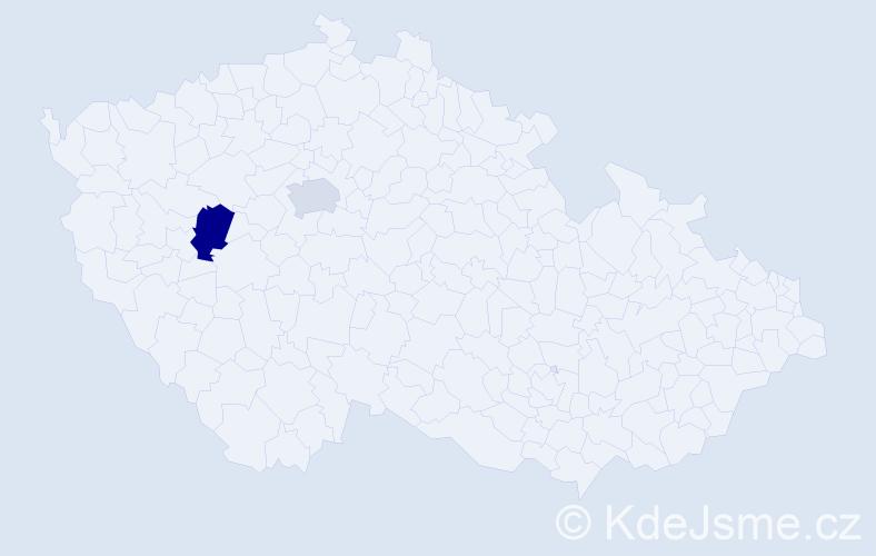 """Příjmení: '""""Al-Jumaily""""', počet výskytů 7 v celé ČR"""