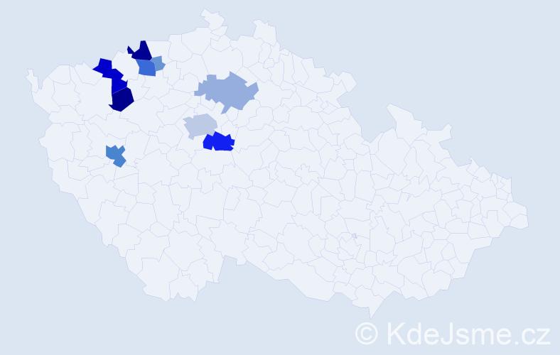 Příjmení: 'Alferi', počet výskytů 43 v celé ČR