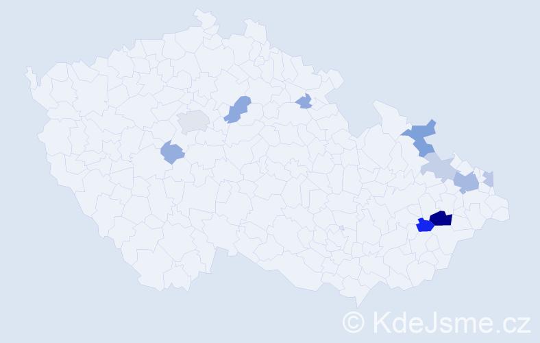 Příjmení: 'Andris', počet výskytů 39 v celé ČR