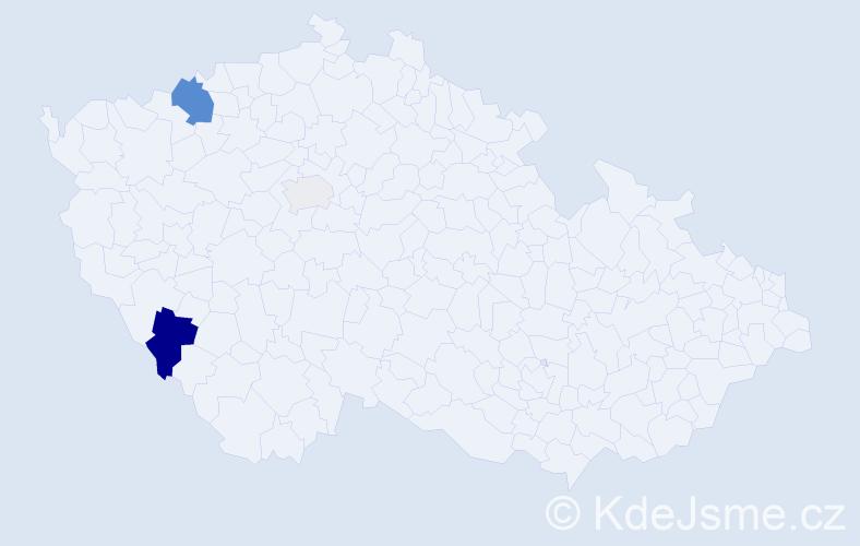 Příjmení: 'Janoščík', počet výskytů 8 v celé ČR