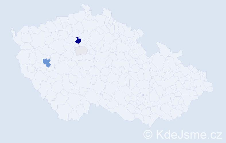 Příjmení: 'Ilkov', počet výskytů 6 v celé ČR
