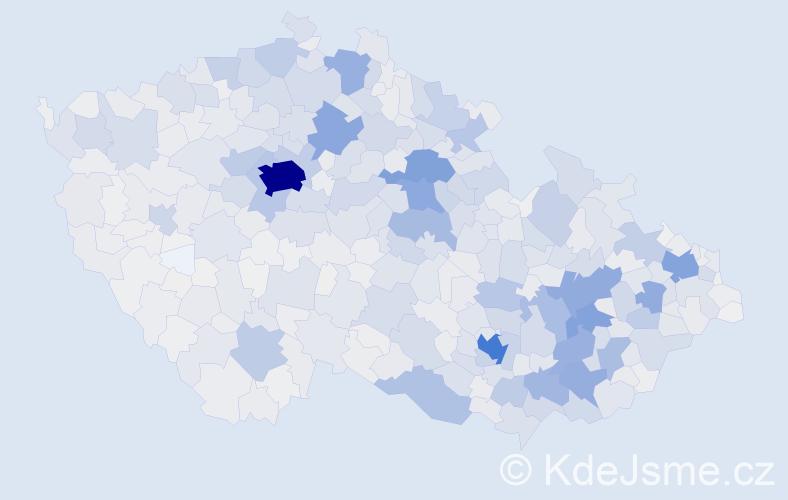 Příjmení: 'Horáková', počet výskytů 12543 v celé ČR
