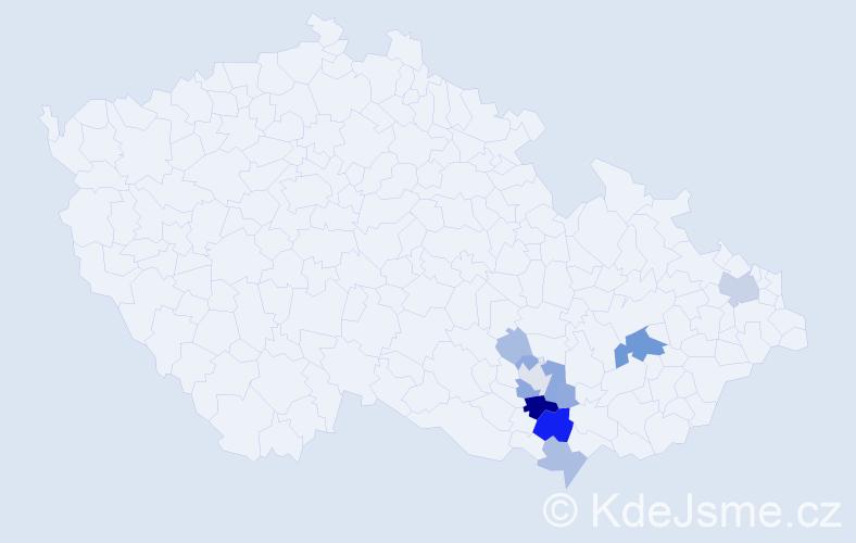 Příjmení: 'Flajšingerová', počet výskytů 33 v celé ČR