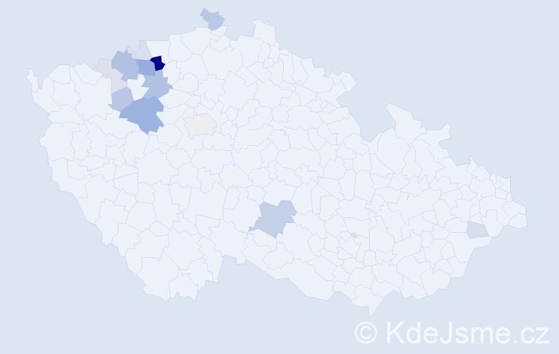 Příjmení: 'Emingrová', počet výskytů 43 v celé ČR