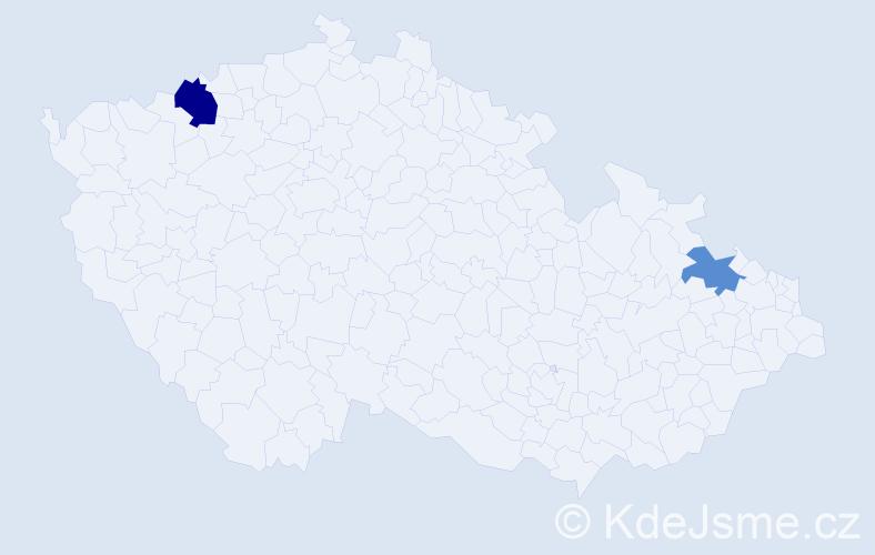 Příjmení: 'Bonakovská', počet výskytů 3 v celé ČR