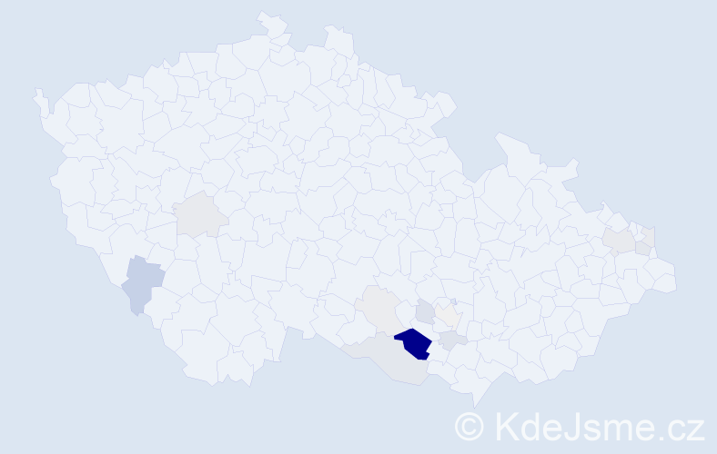Příjmení: 'Leikepová', počet výskytů 36 v celé ČR