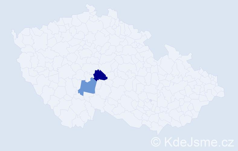 Příjmení: 'Ivasčenko', počet výskytů 2 v celé ČR