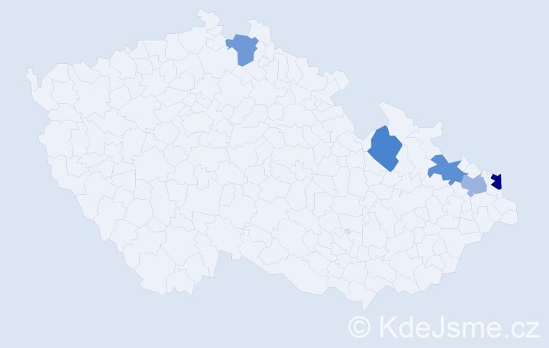 Příjmení: 'Iliadu', počet výskytů 6 v celé ČR