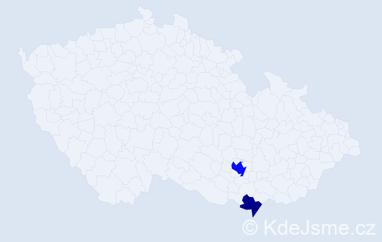 Příjmení: 'Bachmayerová', počet výskytů 4 v celé ČR